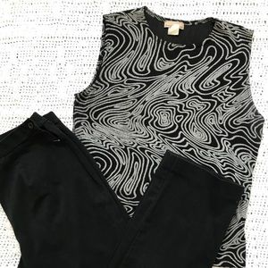 💋Black and Silver Tank💋 Size L
